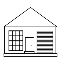 Family house icon outline style vector