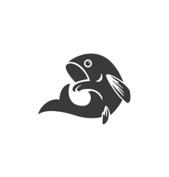 Fish Side View Isolated On White Background vector image vector image