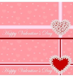 Greeting card - heart of flowers Valentines day vector image