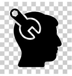 Head neurology wrench icon vector