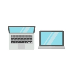 Laptop computer isolated on white background vector image