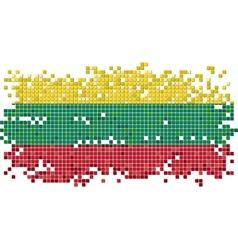 Lithuanian grunge tile flag vector