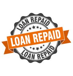 Loan repaid stamp sign seal vector