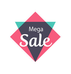 Mega sale isolated sticker vector