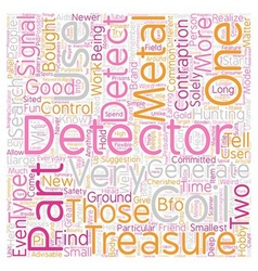 Metal detector parts text background wordcloud vector