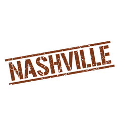 Nashville brown square stamp vector