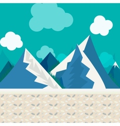 natural landscape in the style of flat vector image