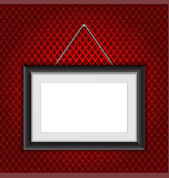 Photo frame hanging rectangle with black border vector
