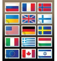 postmark flag vector image vector image