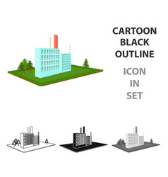 processing factory factory and industry single vector image