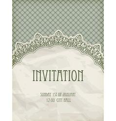 retro invitation template vector image vector image