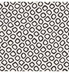 Seamless Black and White Hand Drawn Circles vector image
