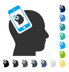 Smartphone head plugin recursion icon vector