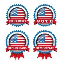 Usa presidential election set 2016 badge vector