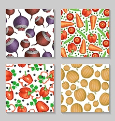vegetables pattern set2 vector image