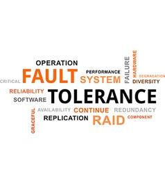 Word cloud fault tolerance vector