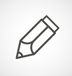 Web icon of modern lineart pencil digital vector