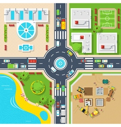 Poster of top view city vector