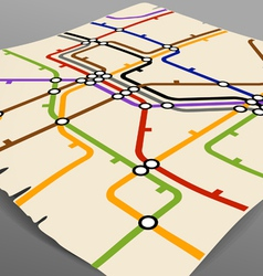 Abstract background of vintage metro scheme vector