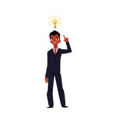 black african businessman having idea business vector image