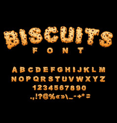 biscuits font cookies with chocolate drops vector image