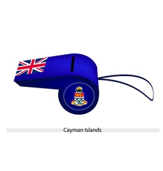 A blue whistle of cayman islands flag vector