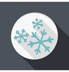 Paper flat icon snow vector