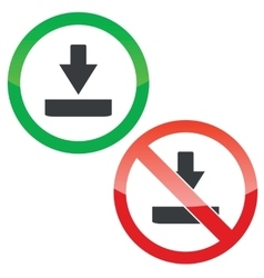 Download permission signs set vector