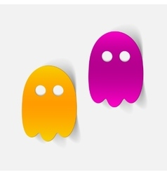 Realistic design element ghost vector