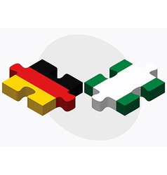 Germany and nigeria flags vector