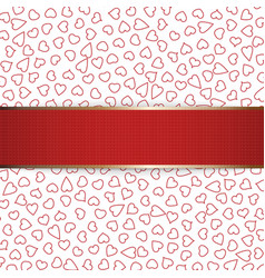 Realistic Christmas or Valentines Day red Ribbon vector image