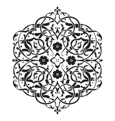 Circular pattern islamic ethnic ornament for vector
