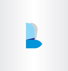 Letter l logo l blue icon symbol design vector