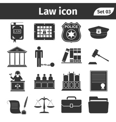 Simple set of Law and Justice related icons set vector image