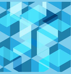 abstract blue geometric template background vector image