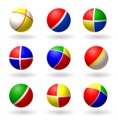 Ball for children set of multi-colored bright vector