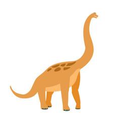 Brachiosaurus dinosaur of jurassic period vector
