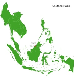 Brunei map vector image vector image