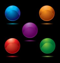 button glow multi vector image vector image