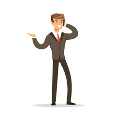 Cheerful businessman talking on the phone vector
