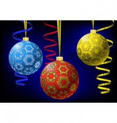 Christmas balls with snowflakes texture vector image vector image