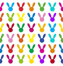 Colorful Rabbit White Background vector image