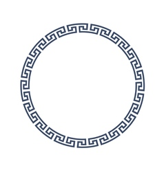 Decorative round frame for design in greek style vector