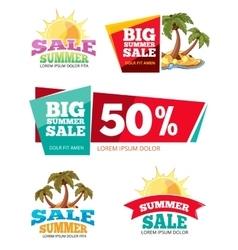 Emblems for big summer sales vector image
