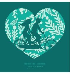 Emerald green plants couple on tandem vector