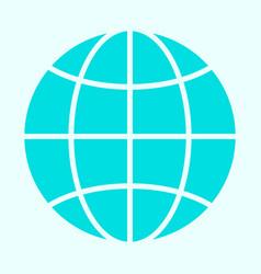 Globe icon simple minimal 96x96 pictogram vector