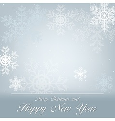 Greeting with Snowflakes vector image