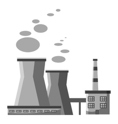 Industrial plant with pipes icon vector