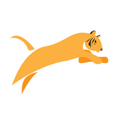 Isolated abstract tiger vector