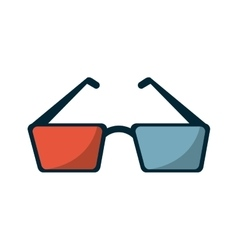 Isolated cinema 3d glasses design vector